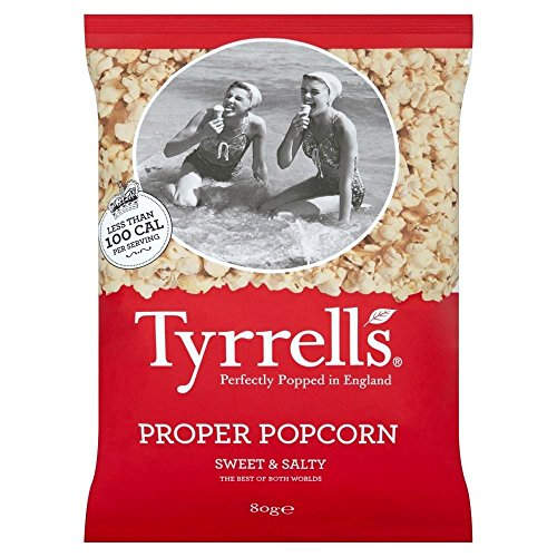 Tyrrells Popcorn Proper - Sweet & Salty (80g) - Paquet de 6