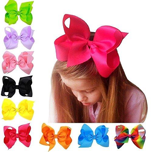 1624e5ef57a AKA 6″ Big Bow Hairpins Hair Clips for Children Kids Girls Hair Handmade  Alligator Clips Accessories