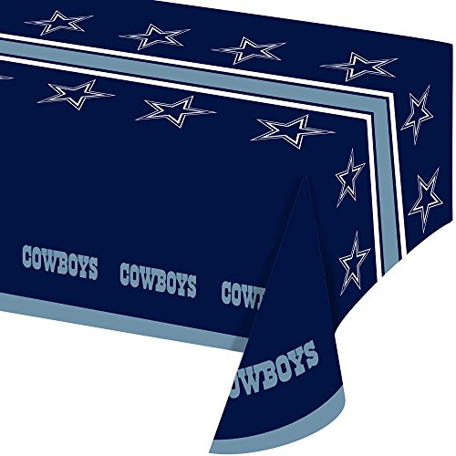 All Over Druck Dallas Cowboys Kunststoff Bankett Tisch Cover (Dallas Cowboy Party Supplies)