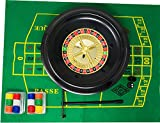 "Complete Roulette set with 30cm (12"") roulette wheel."