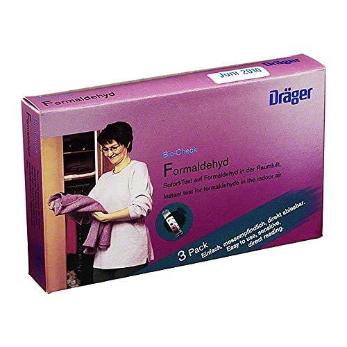 Dräger Bio-Check F | Formaldehyd-Test für Raumluft | Einweg-Test für Möbel, Tapeten, Holzplatten, Spanplatten in Wohn- und Büroräumen | 3 STK.