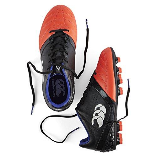 Canterbury Phoenix Club Moulded, Chaussures de Rugby Mixte Enfant Noir (98A Black/Firecracker)