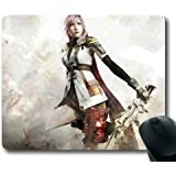 Customizablestyle Final Fantasy XIII Lightning Mousepad, Customized Rectangle DIY Mouse Pad