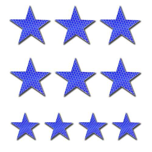 10pcs nastro riflettente blu alta intensità adesivo 60 x 60mm universal home muro pavimento vestiti da bambino sicurezza stickers