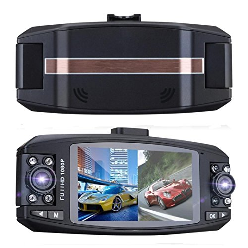 Prevently Dashcam Auto Camera Autokamera Dash Camera Auto Full HD 1080p Dual Lens Auto DVR Video Dash Cam Recorder Kamera G-Sensor Nachtsicht (Dual Lens Hd Auto-dvr)