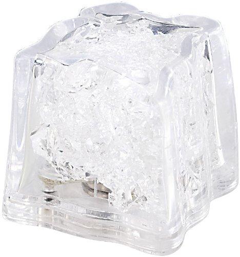 Eiswürfel: LED-Leucht-Eiswürfel, weiß, inklusive Batterien (Leuchteiswürfel) ()