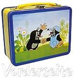 Kinderkoffer Koffer Blechkoffer der kleine Maulwurf 22,5x17,5cm - Maulwurf mit Auto/Hose