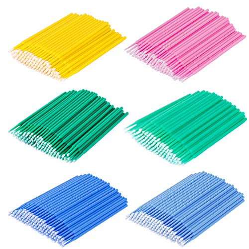 Scopri offerta per Monouso Micro Spazzole Applicatore 6 color Trucco Applicatore Microbrush Eyeliner Adatto per Extension Ciglia Rimozione Rimozione Trucco Nail Art e Pittura 600 Pezzi