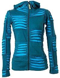 0ca2fb10fa206e Vishes – Alternative Bekleidung – Damen Patchwork Jacke mit Cutwork und  Zipfelkapuze