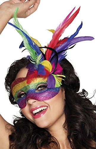 erdbeerclown- Kostüm Zubehör Venezianische Maske Regenbogen, (Augen Up Make Kostüm Katze)