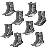 Tommy Hilfiger Damen Socken Small Stripe Casual Socken 8er Pack, Größe:35-38, Farbe:Middle Grey Melange (758)