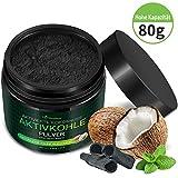 Aktivkohle Pulver 80g Zahnaufhellung Teeth Whitening Bleaching Natürliches Premium Kokosnuss