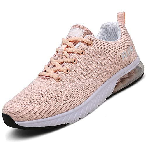 Mishansha Mädchen Laufschuhe rutschfeste Atmungsaktiv Gym Sportschuhe Damen Outdoor Turnschuhe Leichte Freizeit Sneaker Kinder Stil 1:Pink 37 EU