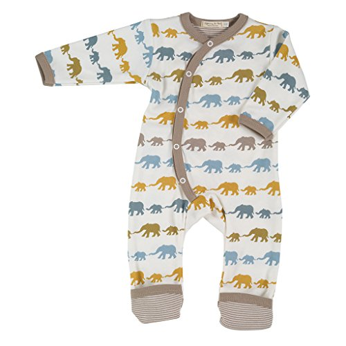 Pigeon-Organics For kids pijama largo Elephant mostaza Mix recién nacido