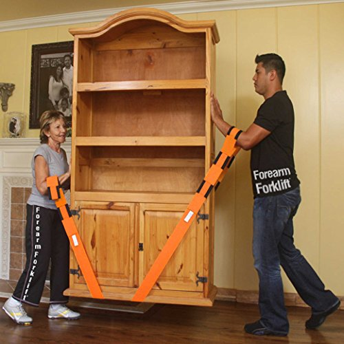 Forearm Forklift L74995CN Lifting and Moving Straps, to easily carry furniture, appliances, mattresses, or any heavy object. Rated for items up to 800 lbs. 2 person moving system that encourages proper lifting techniques