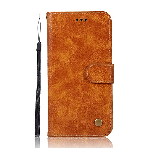 ChainPlus Vivo X20 Wallet Case, [Folio Style ] Premium Vivo X20 Card Cases Stand Feature for Vivo X20 [Light Brown ] Excellence Flip Cover with Excellence (Custom Light Switch)