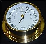 Schiffs Barometer 125 mm Messing leicht