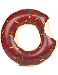 Flotador verano diseño de galletitas estilo natación anillos 60~ 120cm tamaño agua Pool Fun Float Juguetes inflables para adultos y niños inflable anillo de natación playa o piscina baño juguete, marrón