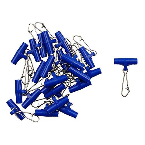 Shaddock Fishing Heavy Duty Interlock Zipper Sinker Slider Wirbel mit Edelstahl Angeln Druckknöpfe für Angeln Rigs Angelgeräte Zubehör, blau