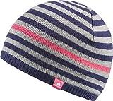 adidas Stripy Beanie Mütze für Kinder, Marineblau/Grau/Pink, Größe OSFY