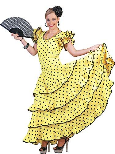 Flamenco Kleid zum Samba Kostüm für Damen Gr. 32 34 (Brasilien Motto Kostüm)