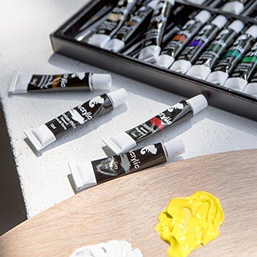 set mit 24 acrylfarben von zenacolor 24 tuben je 12 ml besonders hochwertige und nicht. Black Bedroom Furniture Sets. Home Design Ideas
