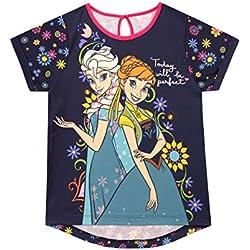 Disney Camiseta de Manga Corta para niñas Frozen - El Reino del Hielo 4-5 Años