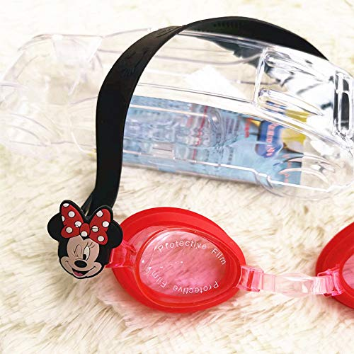 Spfree Kids Swimming Goggles Junior Children Girls Boys Early Teens Age 3-12, with Anti-Fog, Waterproof, Uv Protection, New Cute Minnie