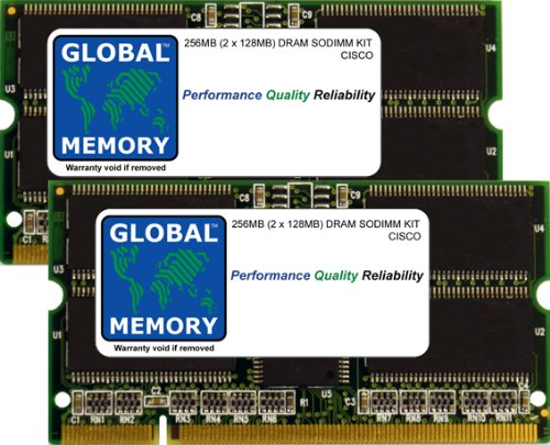7304-serie (256MB (2x 128MB) DRAM SODIMM ARBEITSSPEICHER KIT FÜR CISCO 7301/7304ROUTERN & 7200SERIES ROUTERN (mem-npe-g1–256M, mem-7301–256M))