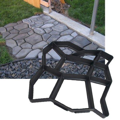 Hengda® 3x Betonform Pflasterform Schalungsform Gießform Plastikformen für Beton Garten Gehwegen Trittsteinen DIY Natursteinpflaster Pflastersteine Terrassenplatten