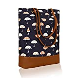 Kleio Stylish Canvas PU Big Tote Bags For Women / College Girls