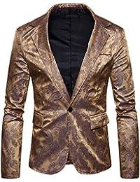 c441b18b20c9 Herren Freizeitanzug Jacke Paisley Stilvolle One Button Slim Fit Blazer  Classic Anzugjacken Revers Langarm Sakko Männer