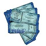 """'Cartes d'anniversaire d'anniversaire Invitations Cartes d'invitation """"Stripes–Bleu–Billet Carte entrée avec de Démolition Coupon..."""