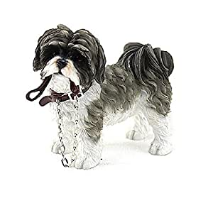 FABULOUS WALKIES SHITZU DOG FIGURE WITH LEAD ORNAMENT DOGS FIGURINE NEW & BOXED by SC Gifts