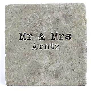 Mr & Mrs Arntz - Single Marble Tile Drink Coaster