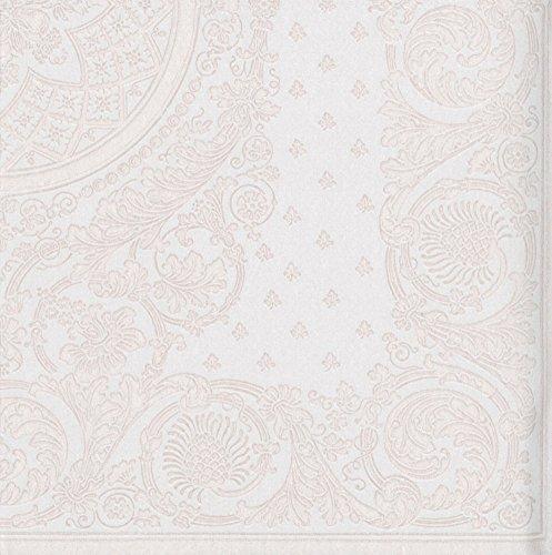 Caspari mit 12271lg Jacquard Papier Leinen Serviette Luncheon, weiß, 15er Pack -