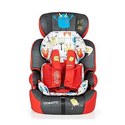 Cosatto Zoomi Group 123 Car Seat, 9-36 kg, Monster Mob