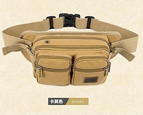 ZYT Tasche multifunzione petto borsa uomo per spalla casual maschile onda sport all'aria aperta di Messenger borse di tela . black Khaki