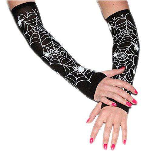 Spinnen-Handschuhe für Halloween