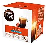 NESCAFÉ Dolce Gusto Café Lungo Descafeinado, Pack de 3 x 16 Cápsulas - Total: 48 Cápsulas de Café