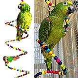 Xpccj Vogelspielzeug mit Leiter, Regenbogen-Holz, Vogelleiter Schaukel Hamster Papageien, Sittiche