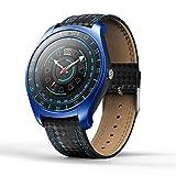 BeonJFx Monitor Schrittzähler 2G SIM-Karte Smart Watch V10 1,22 Zoll Herzfrequenz Blutdruck