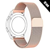 Shellong 18 mm Damen Herren Milanaise Mesh Loop Edelstahl Metall Uhr Band Armband für Huawei, LG Watch Style, Nokia Withings Stahl HR 36 mm Smartwatch, 18MM-ML2018, Rose Gold, 18 mm