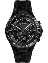 Jacques Lemans Sports Herren-Armbanduhr XL Dakar Chronograph Leder 1-1661F