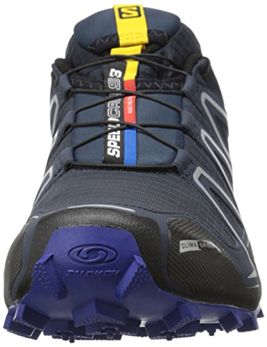 Salomon Speedcross 3 Cs, Chaussures de Running Compétition Homme Bleu (Deep Blue/Black/G Blue)