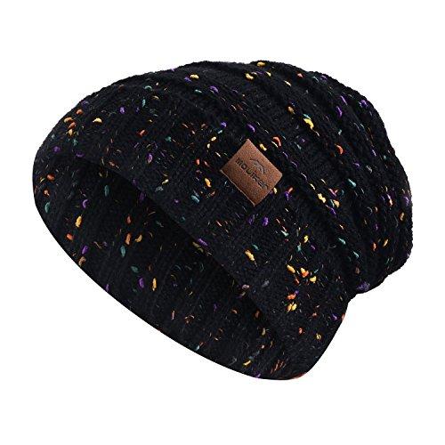 Strickmütze, Moliker Unisex Winter Warm Slouchy Wolle Hut Schädelmütze zum Frau & Männer (A9001)