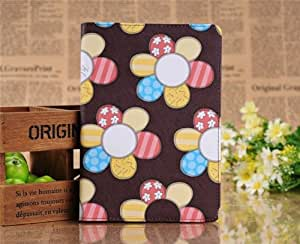 Sun flowers pattern Ipad Mini Case Full Body Protection With Front & Back PU leather case cover