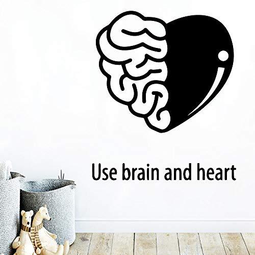 YuanMinglu Moderne Gehirn und Herz wasserdicht dekorative Wandaufkleber Home Room dekorative Wandaufkleber dekoratives Vinyl 45 cm x 45 cm -