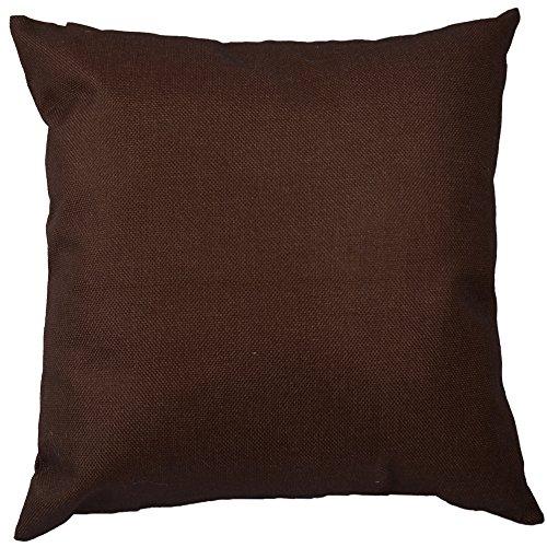 Kate marrone scuro colore solido hippih cotone lino divano home decor design throw pillow case color caffè copricuscini 45 x 45 cm