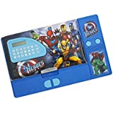 Parteet Multipurpose Dual Side Magnetic Multifunctional Pencil Box With Calculator For Kids (Avenger)
